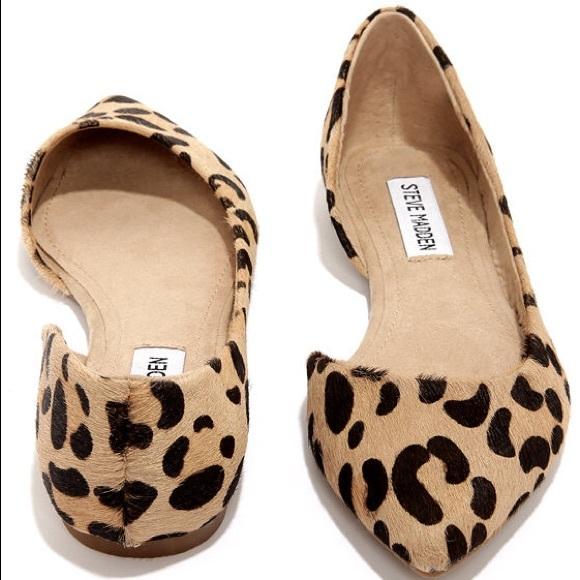 Steve Madden Leopard Pointed Toe Flats